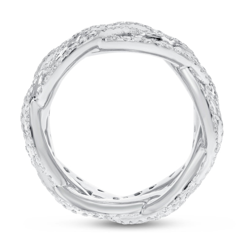 Diamond White Gold Intertwined Infinity Fashion Ring, 5.27 Carats - R&R Jewelers