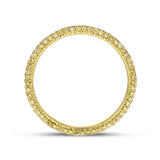 Yellow Diamond Yellow Gold Eternity Band, 0.55 Carats - R&R Jewelers