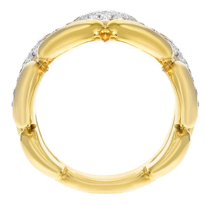 18K Yellow Gold Statement Ring, 0.84 Carats - R&R Jewelers
