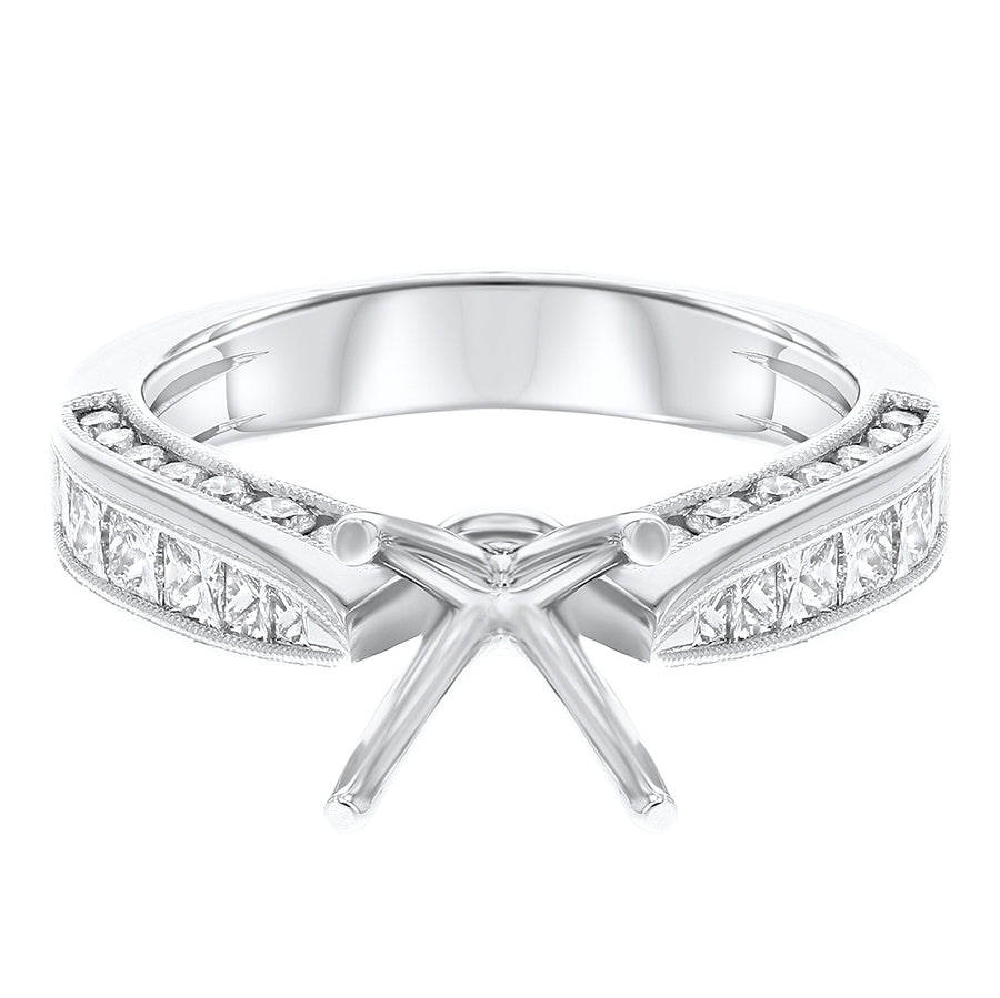 18K White Gold Semi-mount Ring, 1.15 Carats - R&R Jewelers