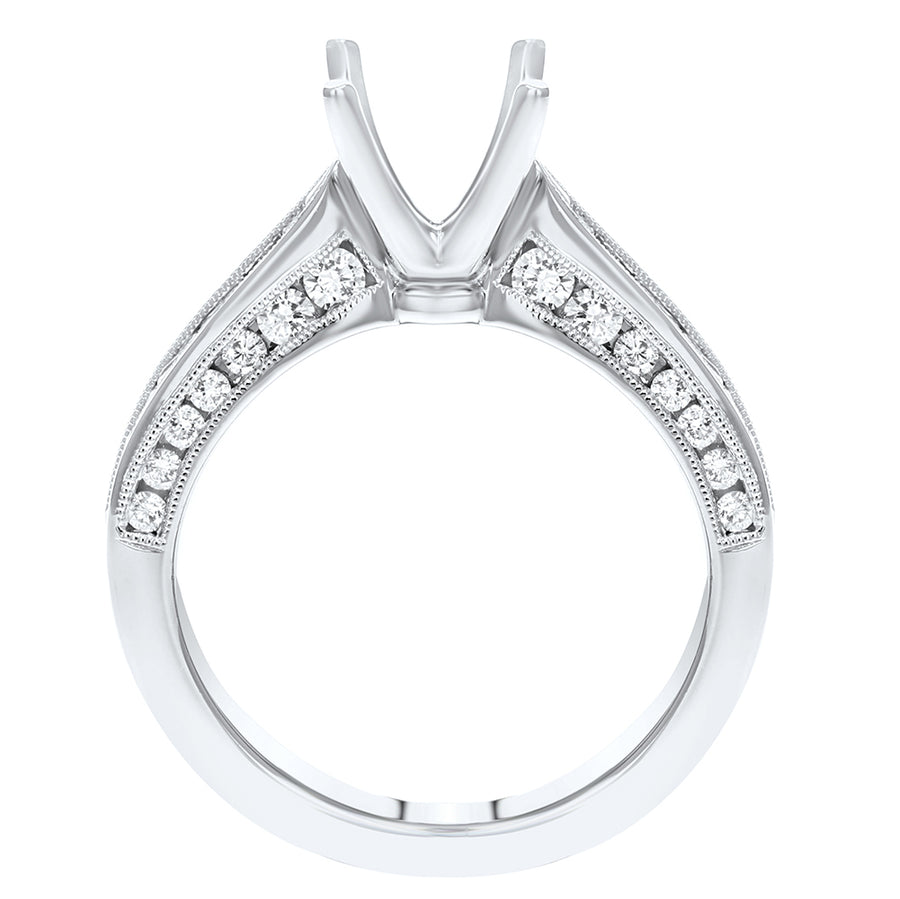 Tapered Diamond Semi Mount Ring - R&R Jewelers