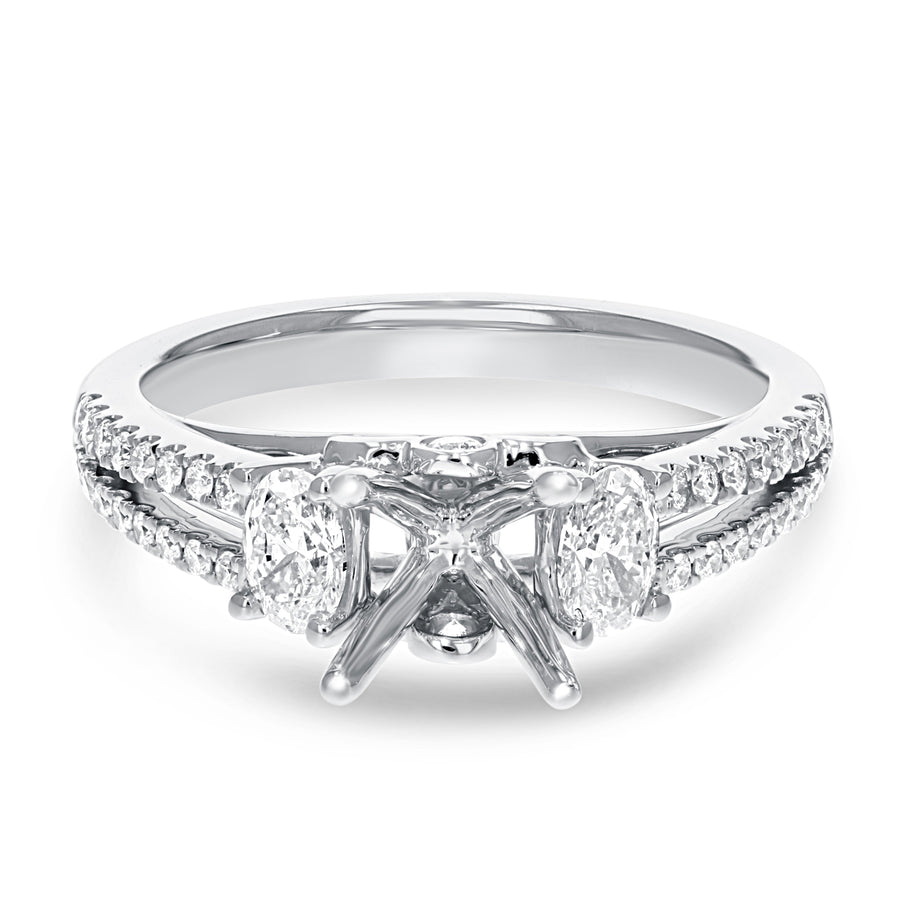 Split Shank Diamond Semi Mount Ring - R&R Jewelers