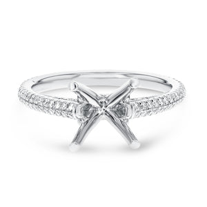 Two Row Diamond Semi Mount Ring - R&R Jewelers