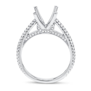 18K White Gold Semi-mount Ring, 0.48 Carats