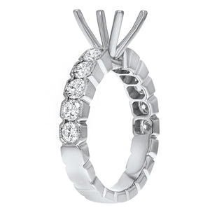 18K White Gold Semi-mount Ring, 1.11 Carats - R&R Jewelers