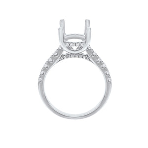 18K White Gold Semi-mount Ring, 0.57 Carats - R&R Jewelers