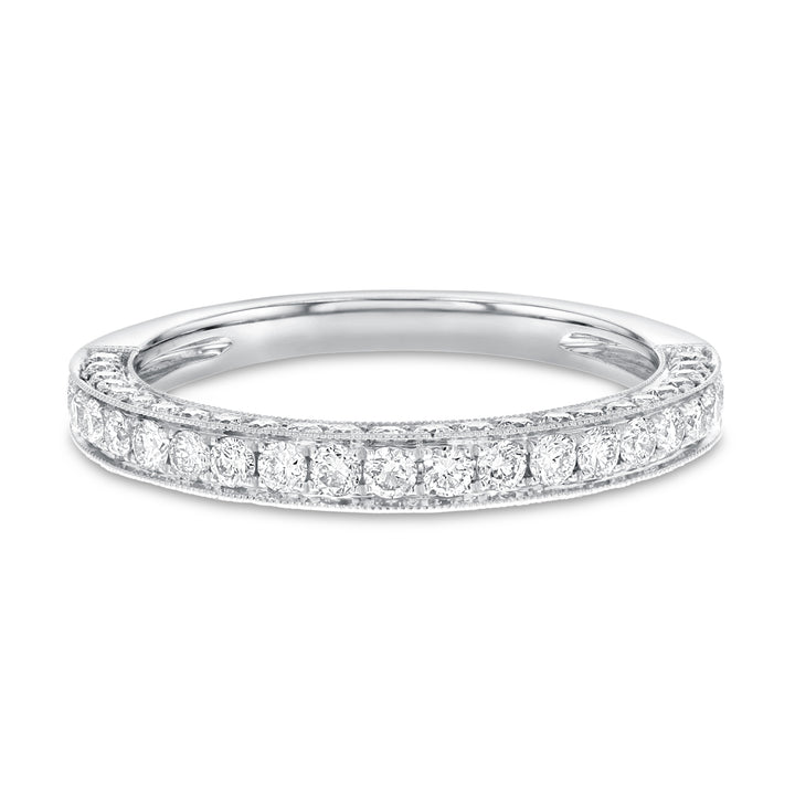 18K White Gold Diamond Wedding Band, 0.77 Carats - R&R Jewelers