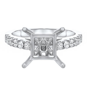 Diamond Cathedral Semi Mount Ring - R&R Jewelers