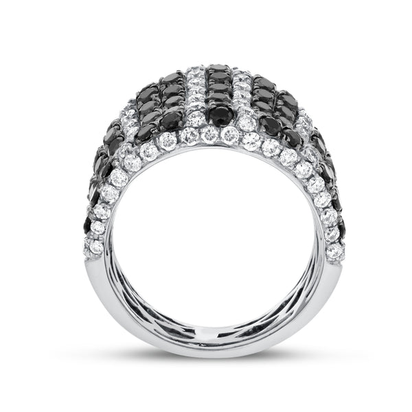 Black and White Diamond Statement Ring - R&R Jewelers