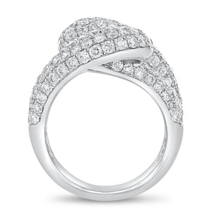 18K White Gold Statement Ring, 3.88 Carats - R&R Jewelers