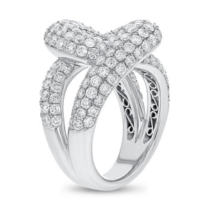 Diamond Pavé Swirl Ring - R&R Jewelers