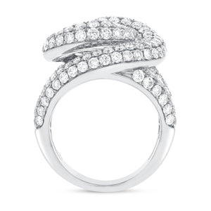 18K White Gold Statement Ring, 4.77 Carats