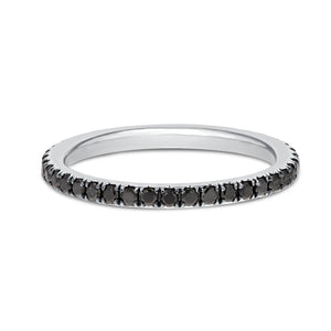 Black Diamond WHITE GOLD BLAC Eternity Band, 0.51 Carats - R&R Jewelers