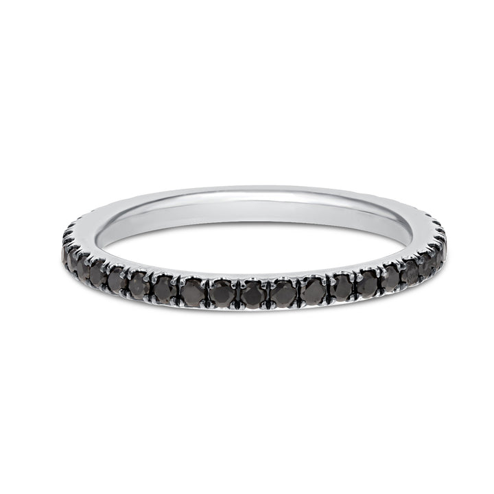 Black Diamond WHITE GOLD BLAC Eternity Band, 0.51 Carats