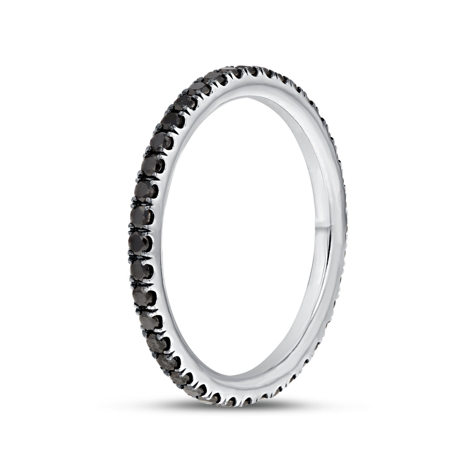 Black Diamond Eternity Band - R&R Jewelers