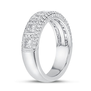 18K White Gold Statement Ring, 1.56 Carats