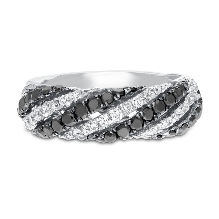 Black Diamond Swirl Ring - R&R Jewelers