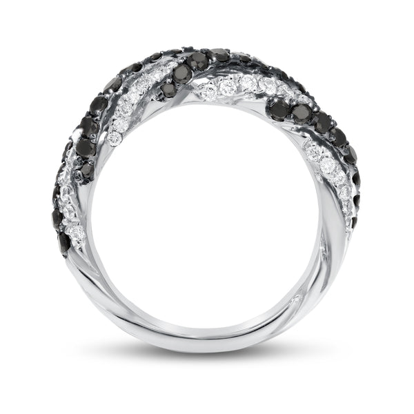 18K White Gold Statement Ring, 1.51 Carats