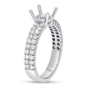 18K White Gold Semi-mount Ring, 0.61 Carats - R&R Jewelers