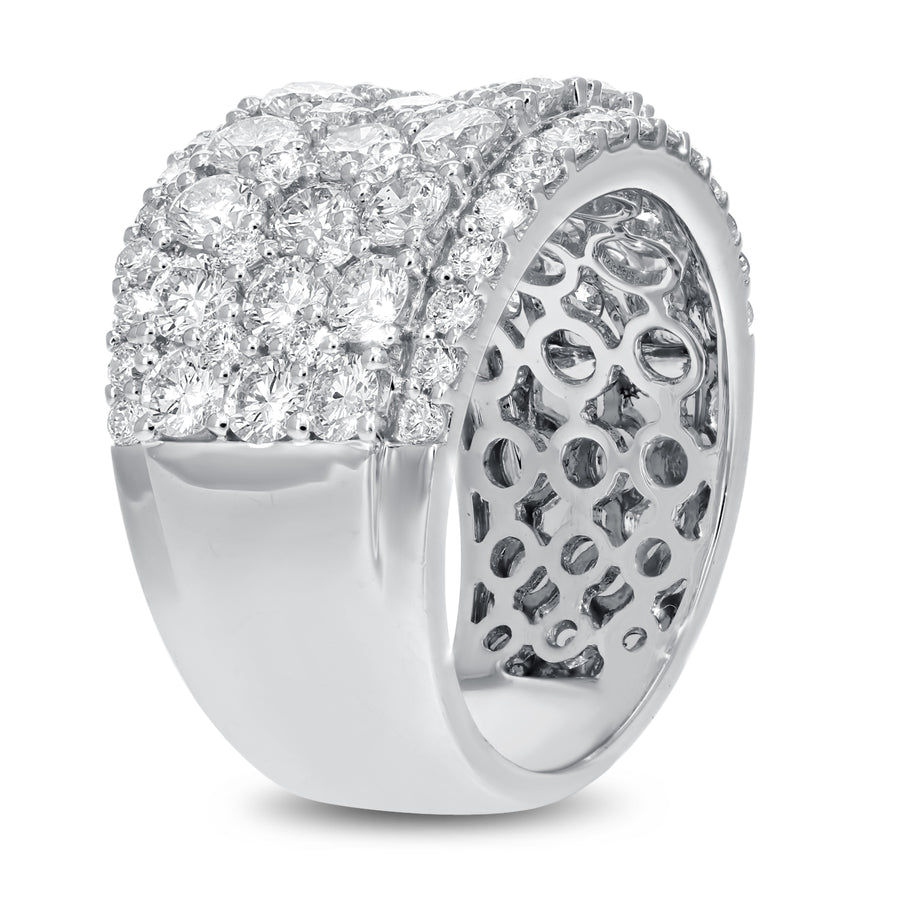18K White Gold Statement Ring, 3.78 Carats - R&R Jewelers