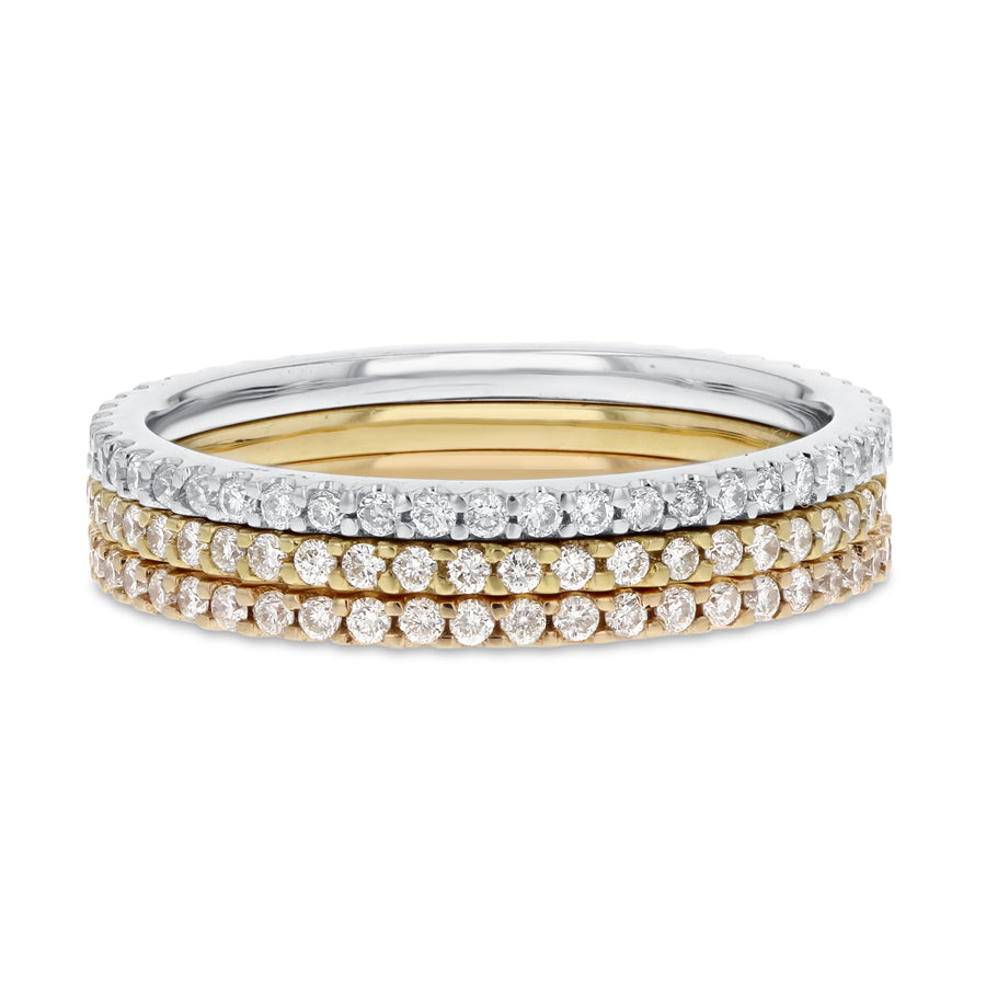 Diamond Eternity Stackable Band Set, 0.93 cttw - R&R Jewelers