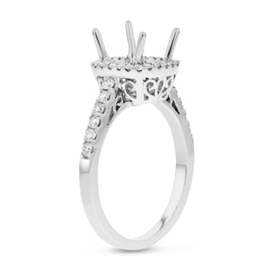 18K White Gold Semi-mount Ring, 0.38 Carats - R&R Jewelers