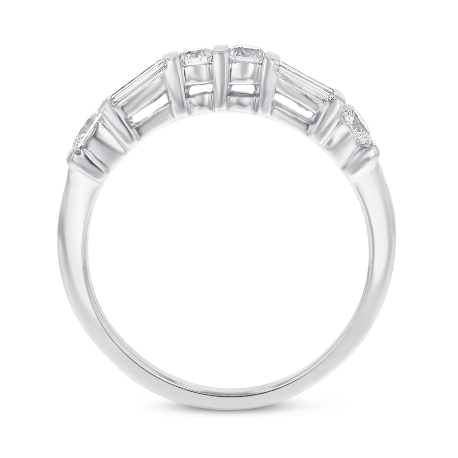 14K White Gold Diamond Wedding Band, 1.04 Carats - R&R Jewelers