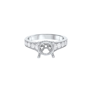 18K White Gold Semi-mount Ring, 0.78 Carats - R&R Jewelers