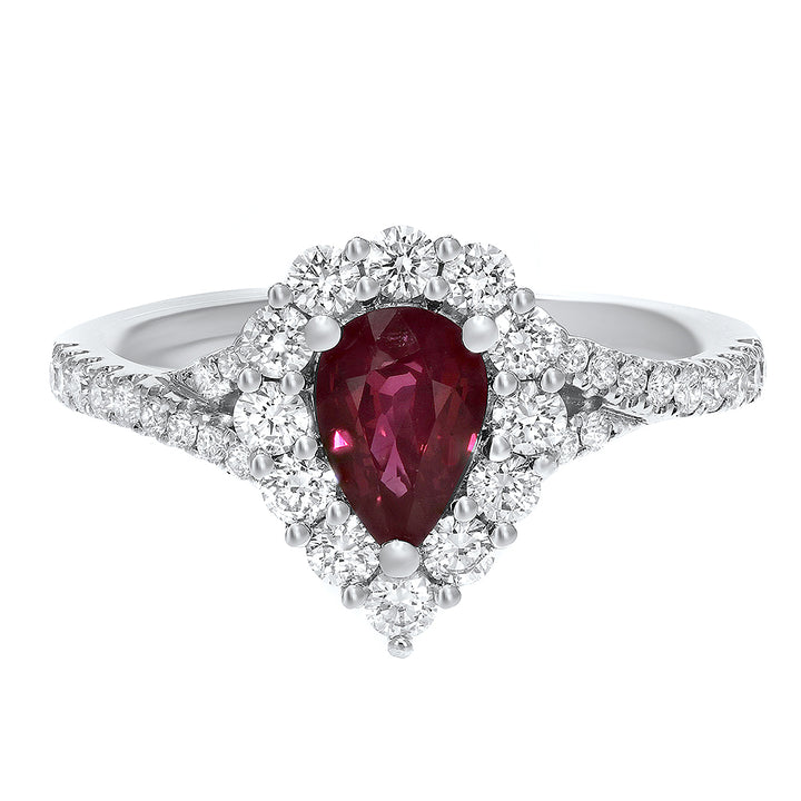 18K White Gold Diamond and Gemstone Ring, 1.41 Carats - R&R Jewelers