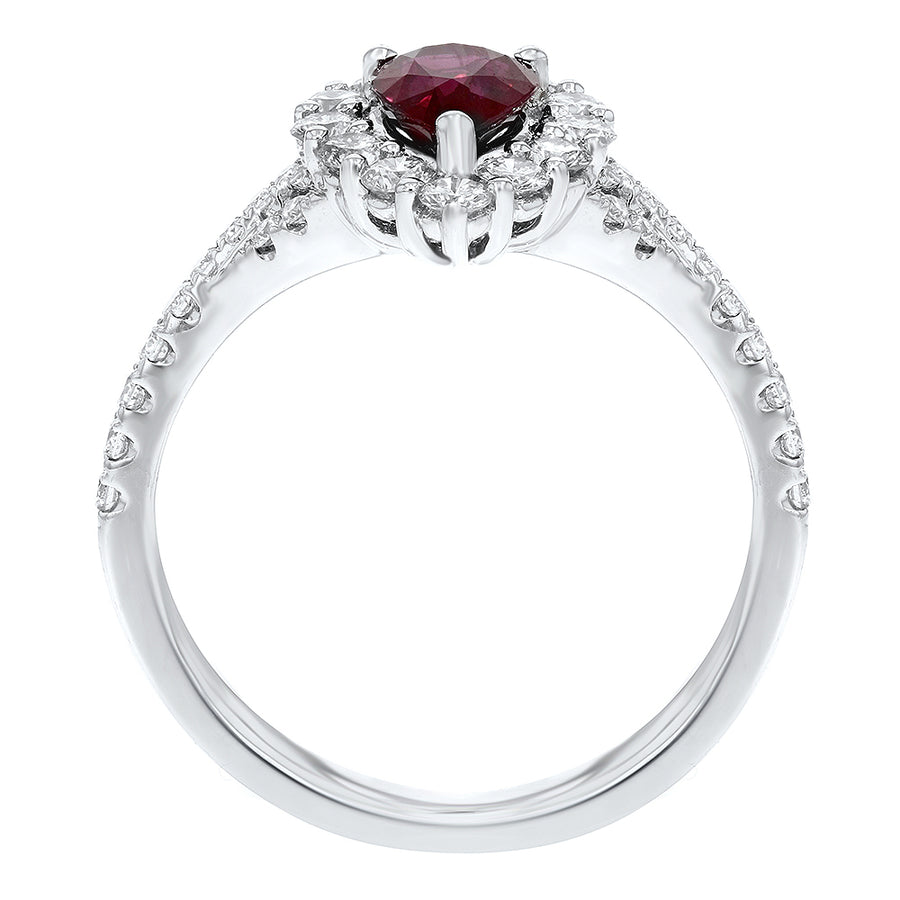 Pear Shape Ruby Fashion Ring - R&R Jewelers