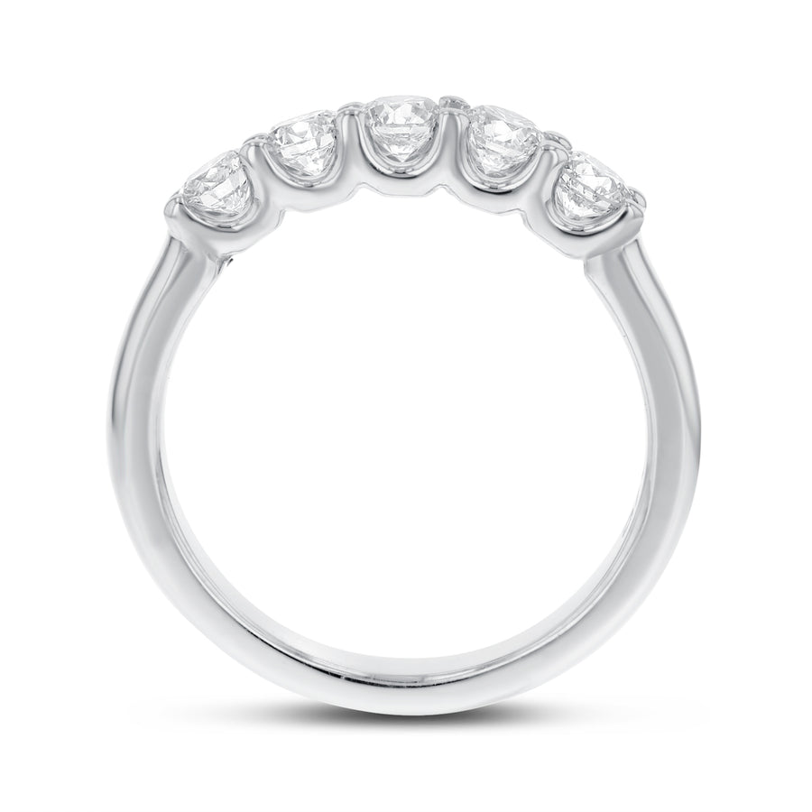 Five Stone Diamond Wedding Band - R&R Jewelers