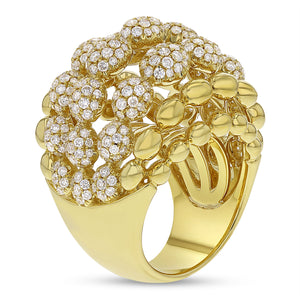 18K Yellow Gold Statement Ring, 3.42 Carats