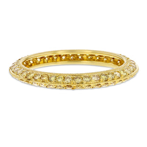 18K Yellow Gold Diamond Wedding Band, 0.91 Carats
