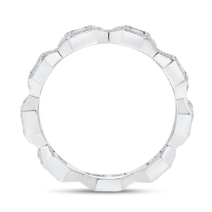 Art Deco Princess Cut Diamond Eternity Band - R&R Jewelers