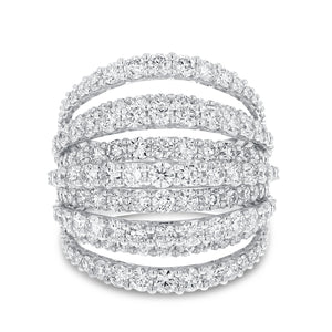18K White Gold Statement Ring, 4.80 Carats