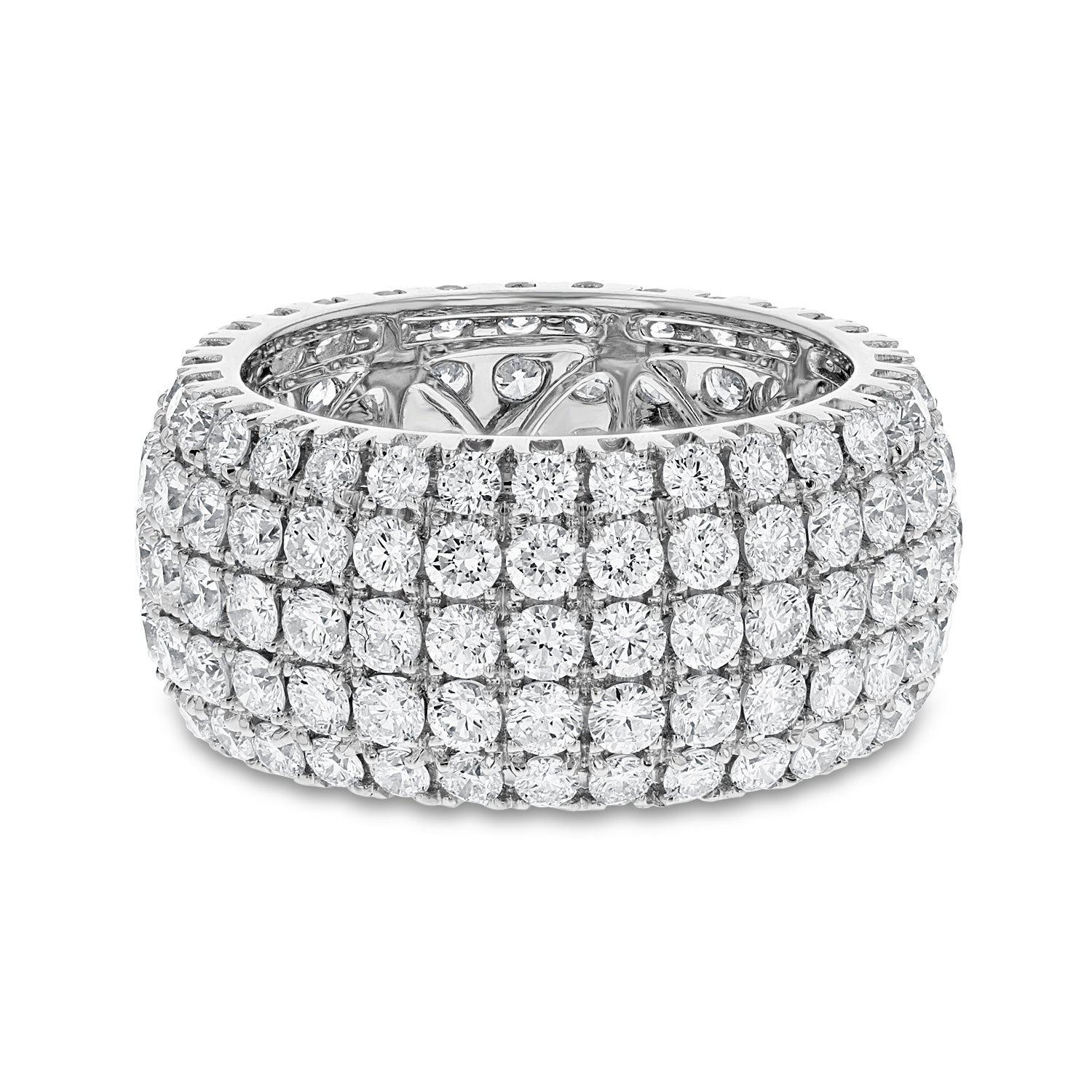 18K White Gold Statement Ring, 5.37 Carats