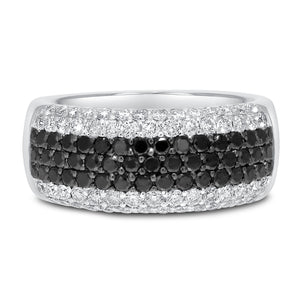 18K WHITE GOLD BLAC Statement Ring, 1.50 Carats