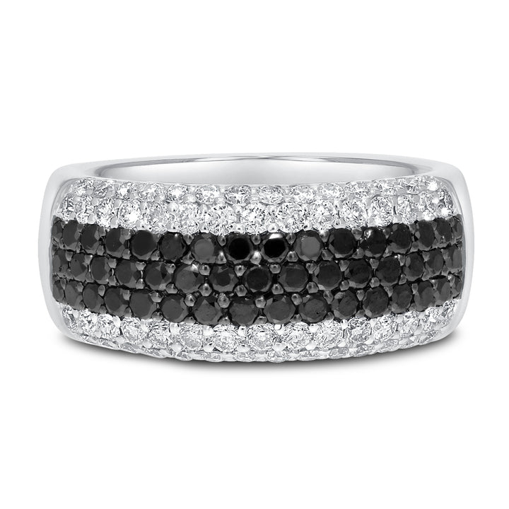 Black and White Diamond Wedding Band - R&R Jewelers