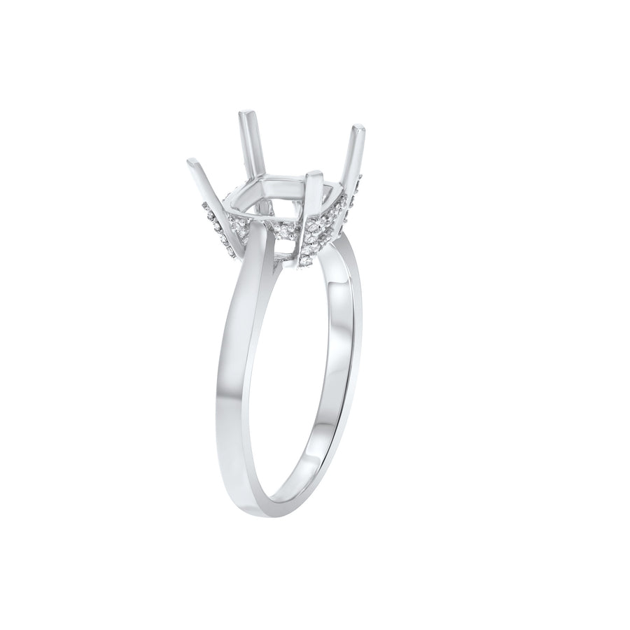 Diamond Solitaire Semi Mount Ring - R&R Jewelers