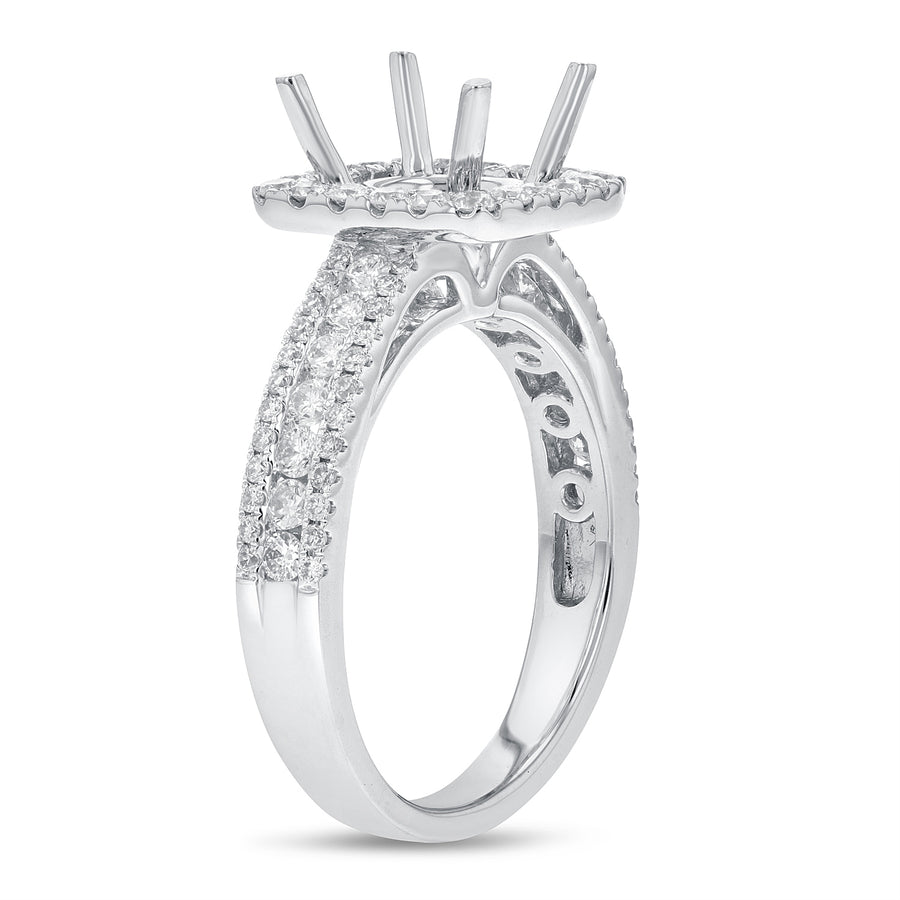 Three Row Diamond Semi Mount Ring - R&R Jewelers