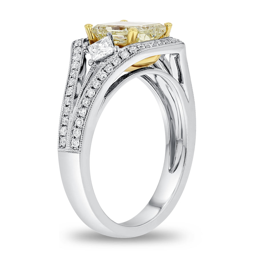 Yellow Diamond Engagement Ring - R&R Jewelers