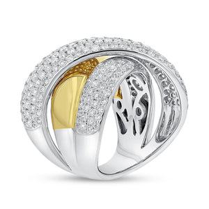 18K White and Yellow Gold Statement Ring, 2.67 Carats