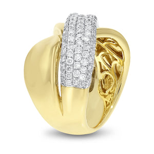 18K Yellow Gold Statement Ring, 1.33 Carats