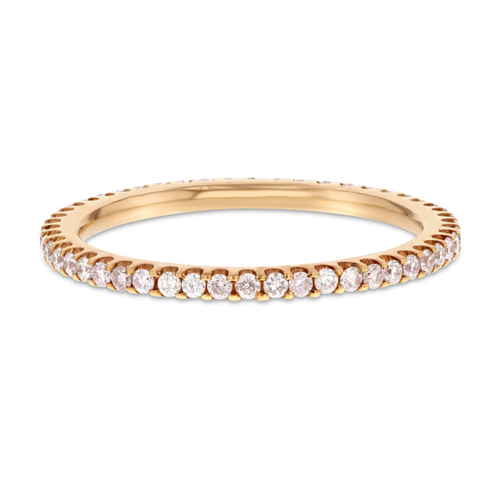 Diamond Rose Gold Petite Eternity Band, 0.39 Carats