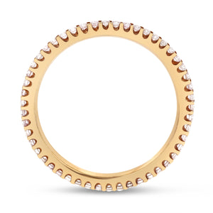 Pink Diamond Rose Gold Petite Eternity Band, 0.39 Carats - R&R Jewelers