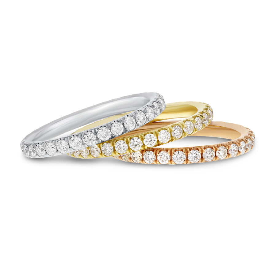 Diamond Eternity Stackable Band Set, 2.38 cttw - R&R Jewelers