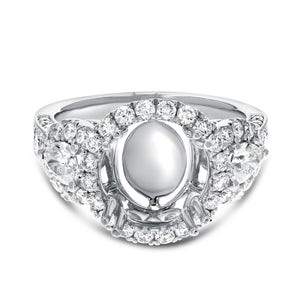 18K White Gold Semi-mount Ring, 1.52 Carats - R&R Jewelers