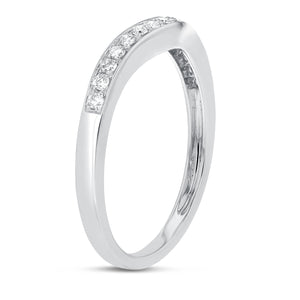 Curved Diamond Wedding Band - R&R Jewelers