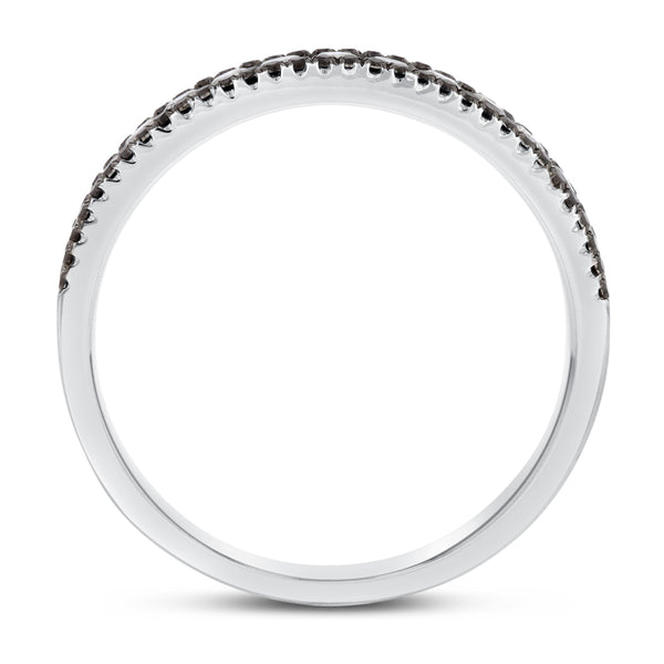 Channel Set White and Black Diamond Band - R&R Jewelers