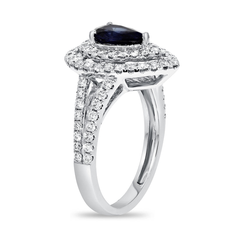 Pear Shape Sapphire Statement Ring - R&R Jewelers